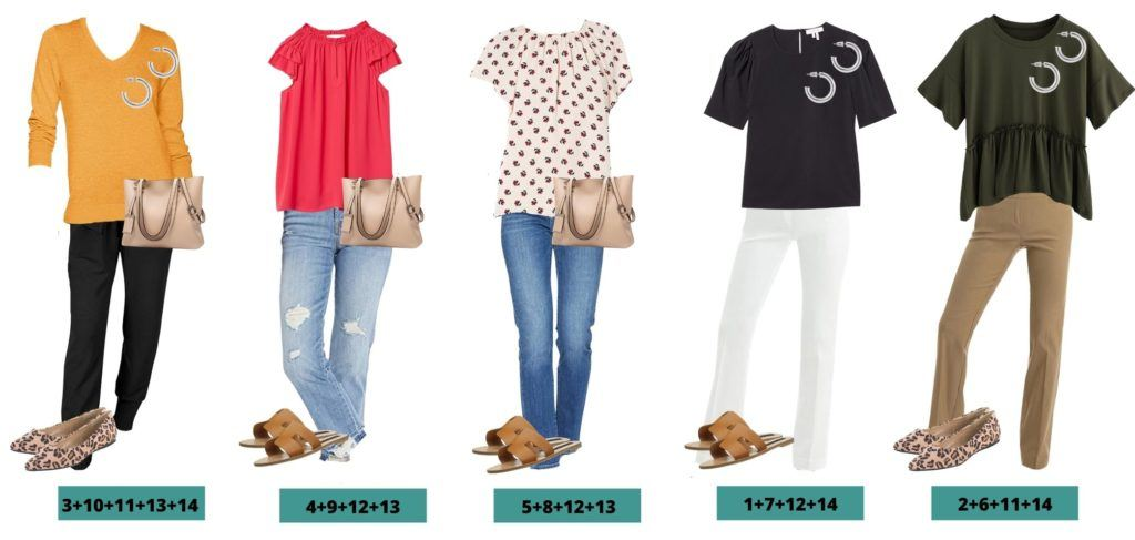 5 Cute Spring Outfit Ideas - Mix and Match Capsule Wardrobe for Spring