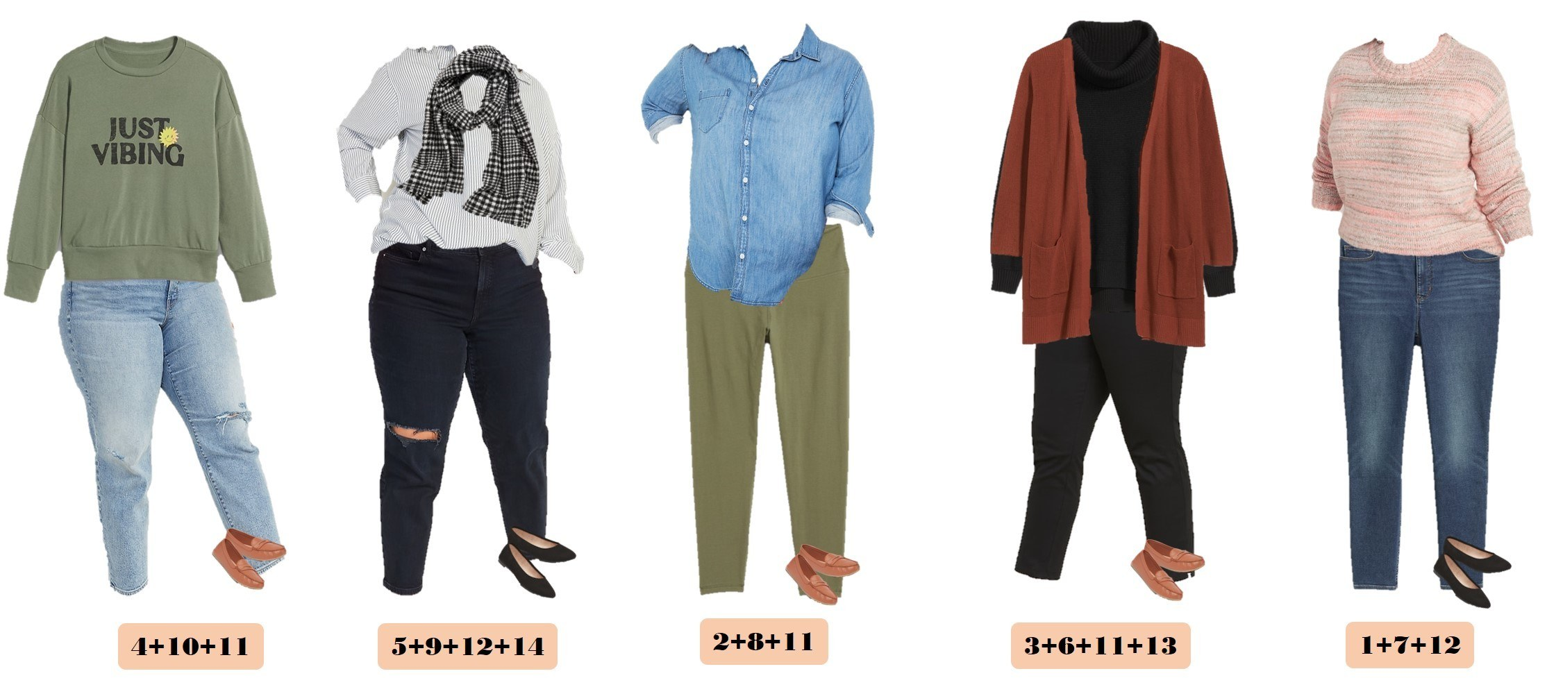 5 Plus Size Mix and Match Outfits