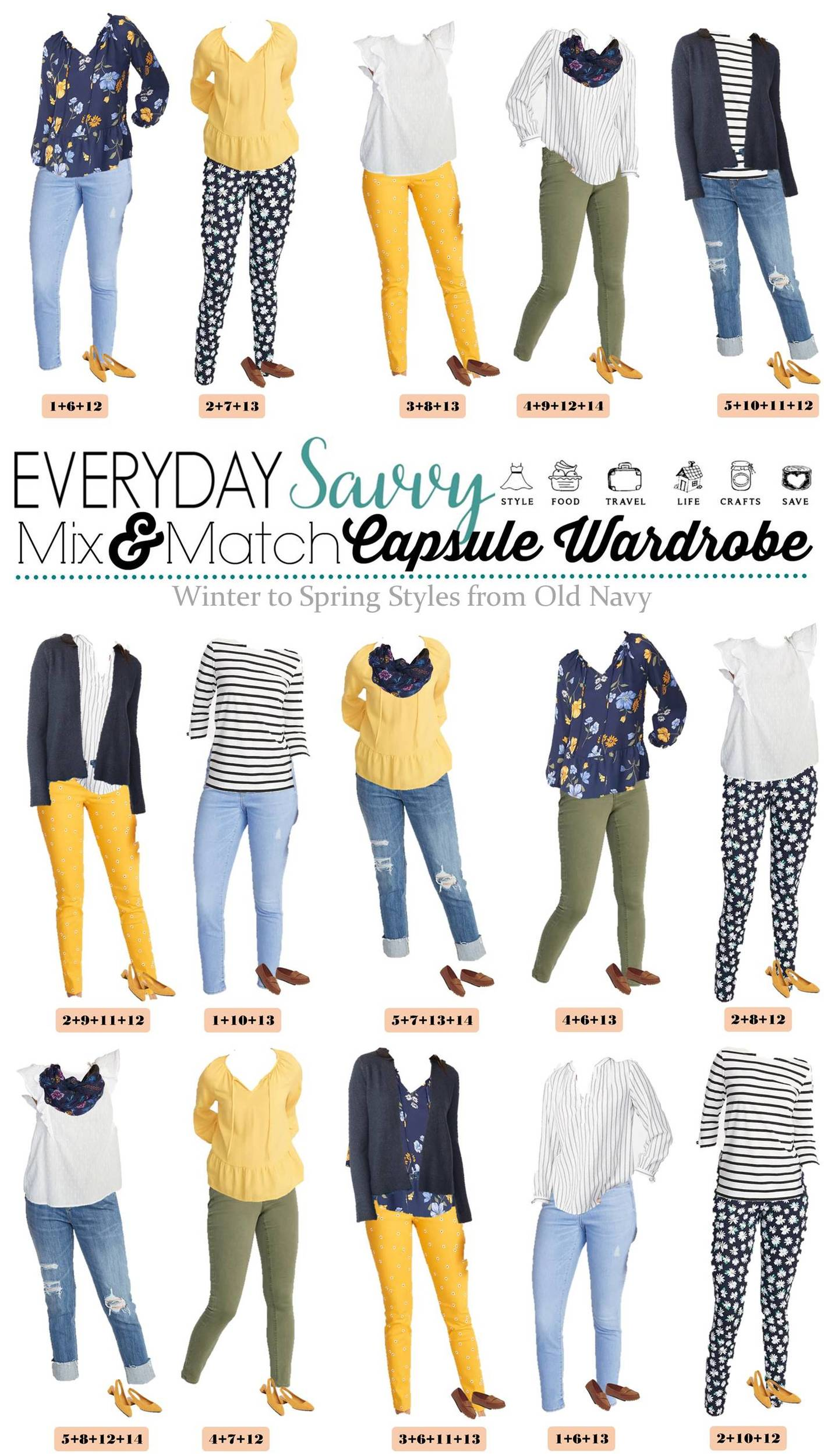 mix and match winter and early spring outfits