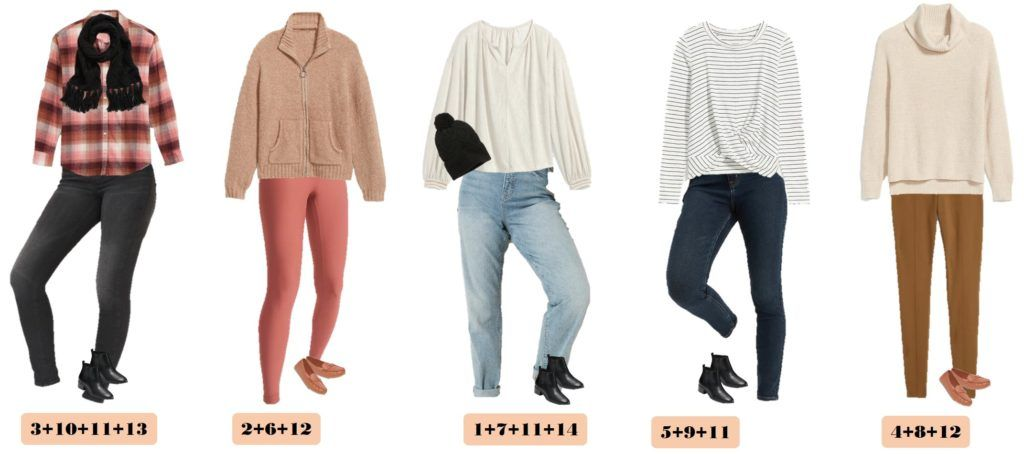 5 Winter Outfits from Old Navy - Cosy sweaters and tops and jeans, jeggings and leggings