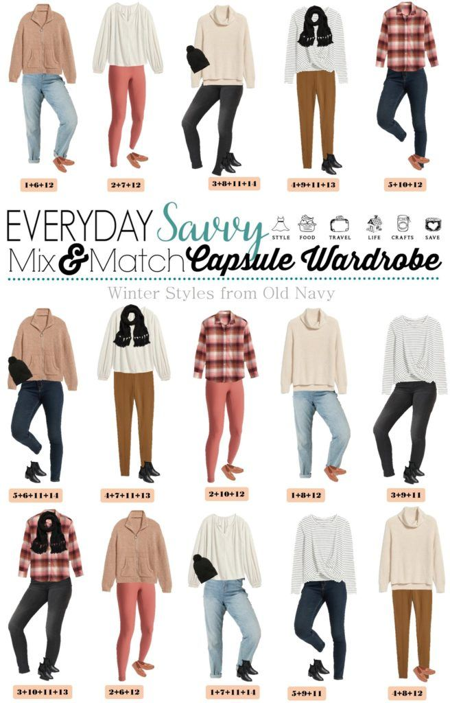 Cozy Winter Outfit Ideas from Old Navy - flannel shirt, leggings, jeggings, cozy sweater