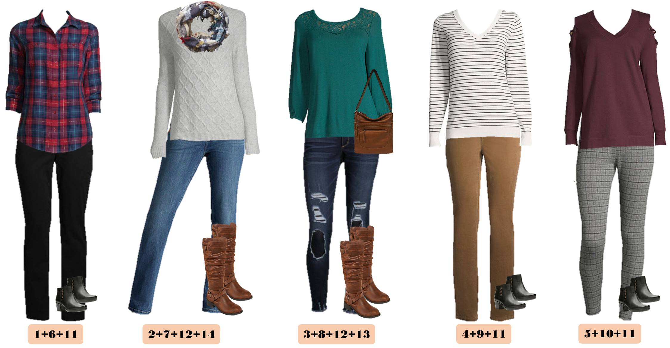 Fall styles for women - leggings, plaid and sweaters