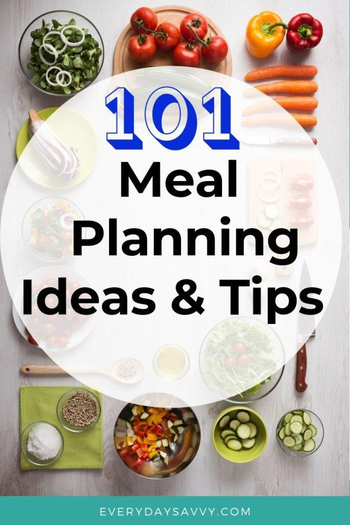meal planning ideas and how to make a meal plan