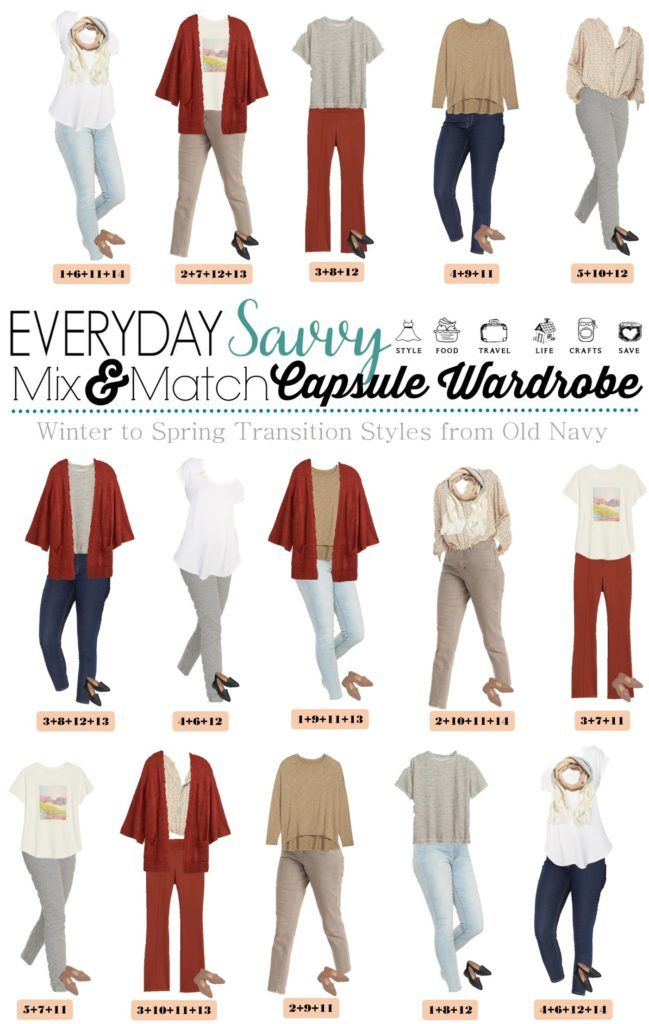 15 winter to spring Outfit Ideas - Capsule wardrobe