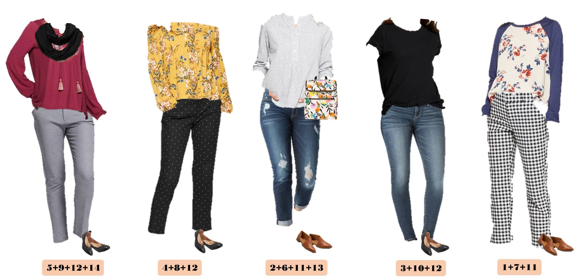 cute spring casual outfits that mix and match