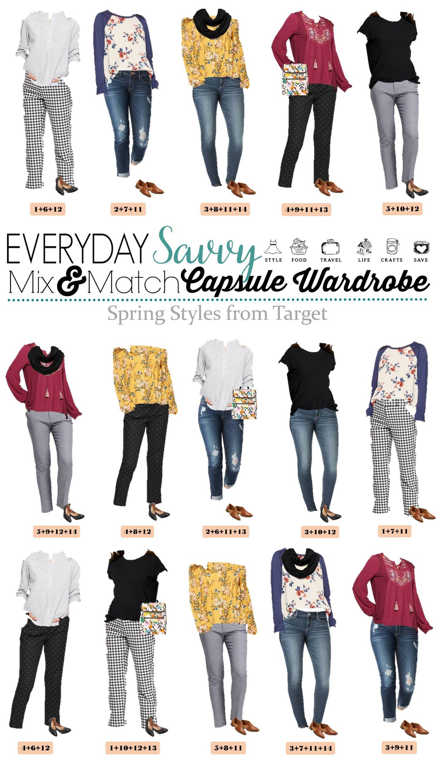 Early Spring Outfits - Target Spring Capsule Wardrobe
