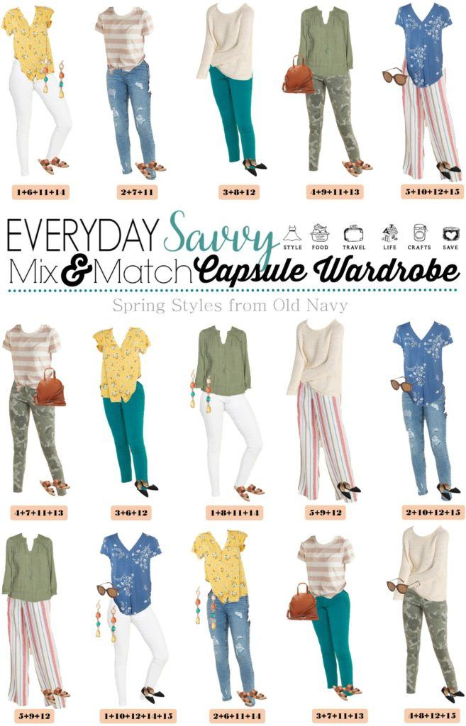 cute casual spring outfits from Old Navy