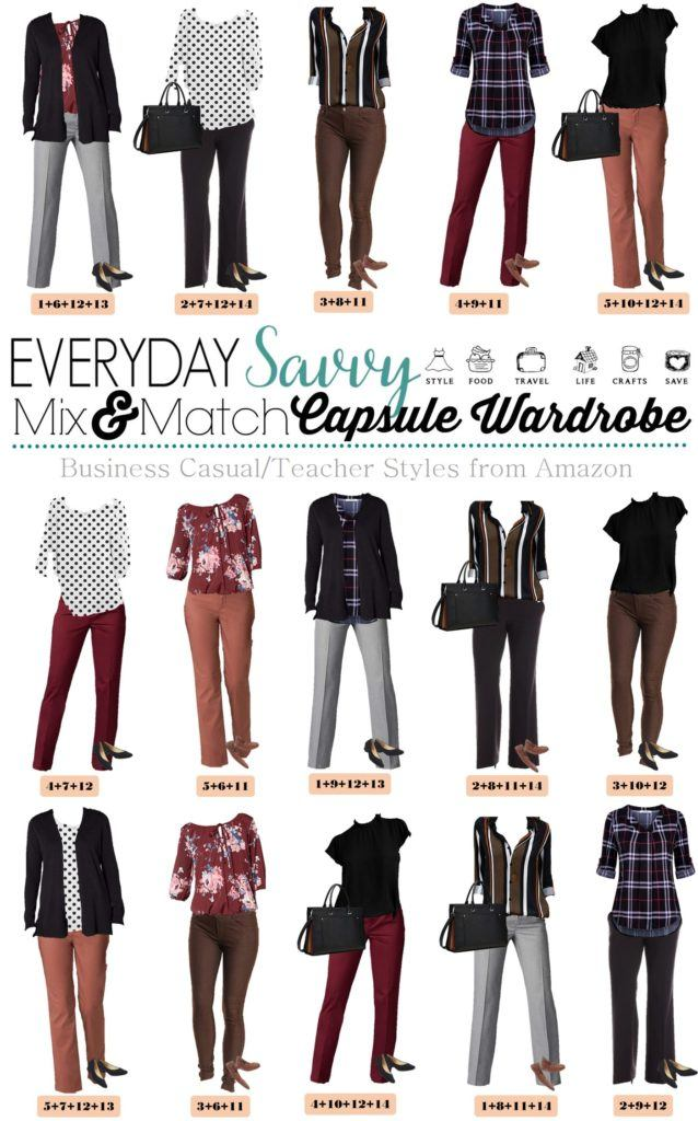 Casual Teacher Outfits Capsule Wardrobe Outfit Ideas