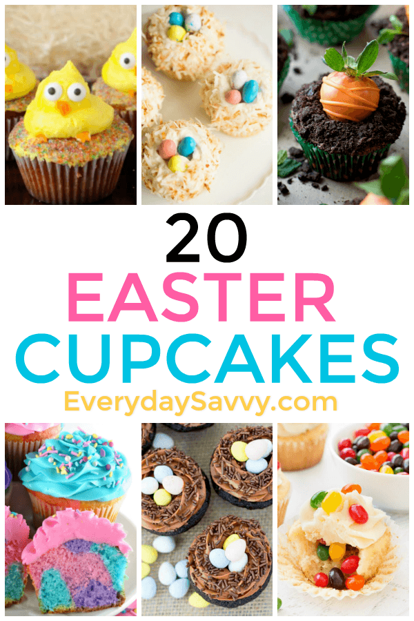 Cute & easy Easter cupcakes