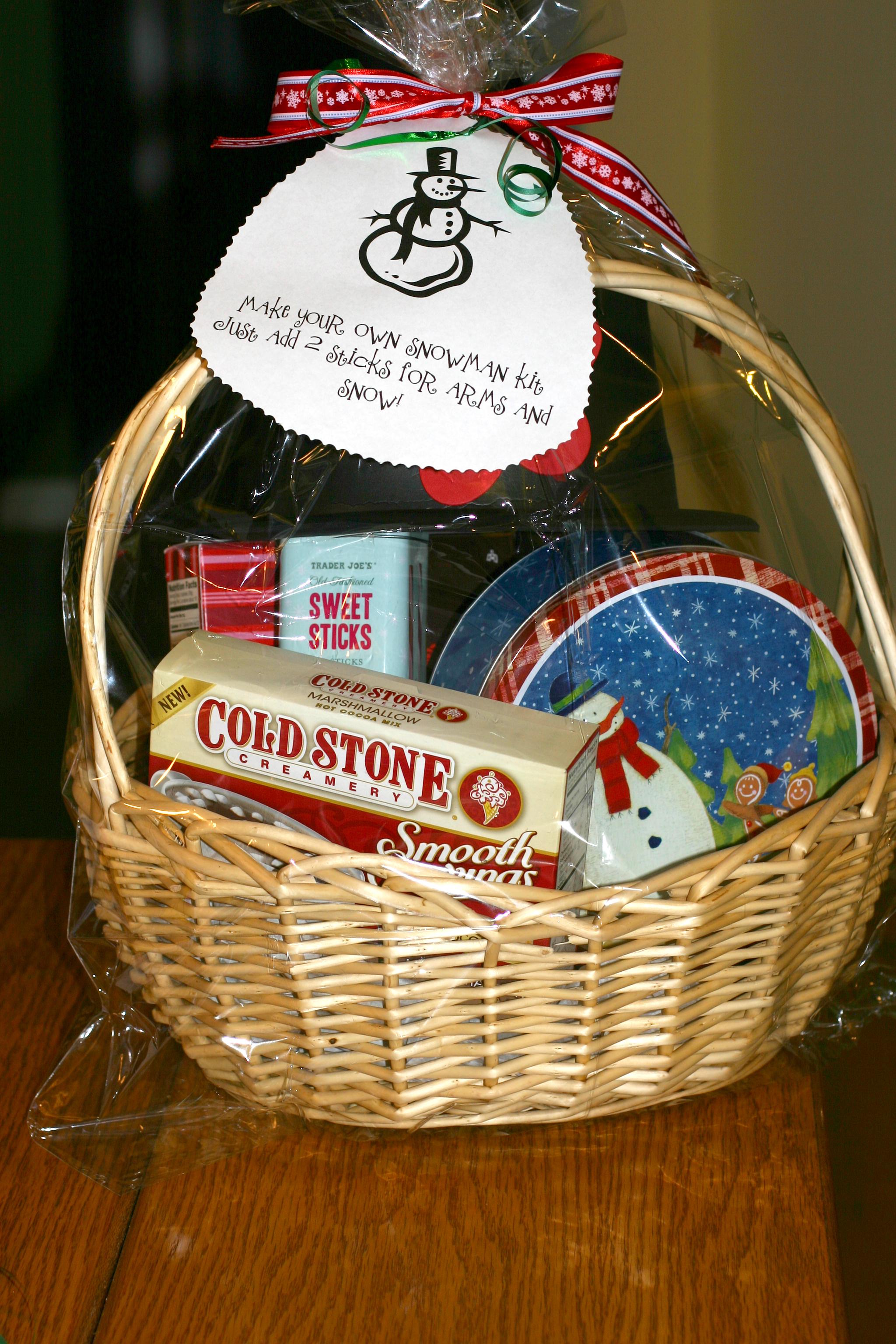Make Your Own Baby Gift Basket Ideas : Make your own snow man kit gift basket bargain per mom