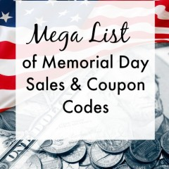 List of Memorial Day Sales & Coupon Codes