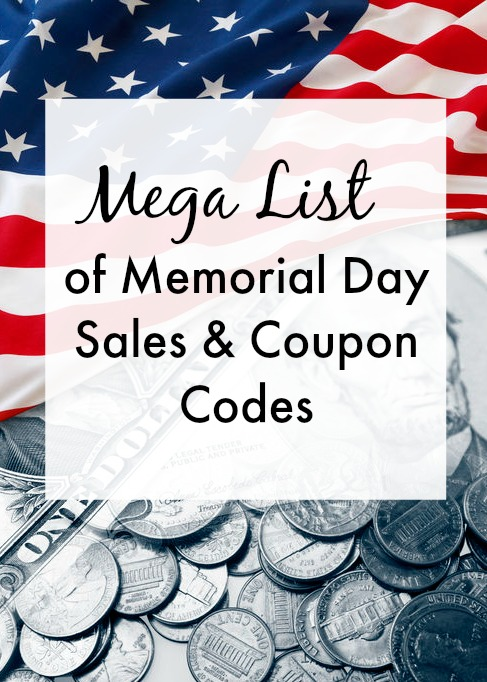 Mega List of Memorial Day Sales & Coupon Codes