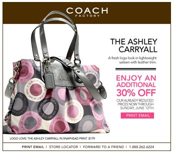 coach purses discount outlets yfrt  coach printable coupon june 2011