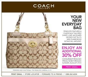 coachoutletfactory 27hn  coach outlet printable coupon august 17- 21