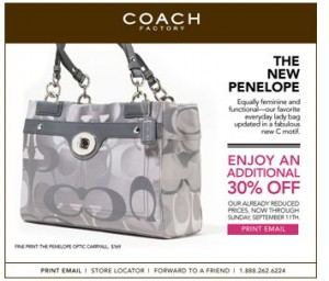 Coach factory outlet free shipping coupon code