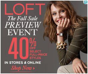 ann taylor loft 40% off sale