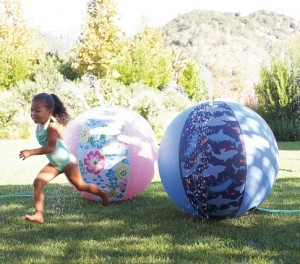 pottery barn kids beach ball sprinkler sale free shipping