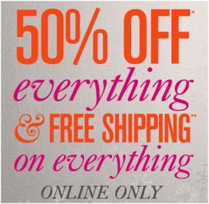 ann taylor 50% off free shipping