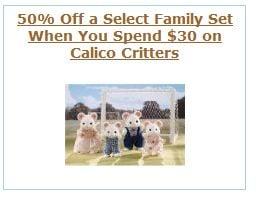 calico critters 50% sale promo