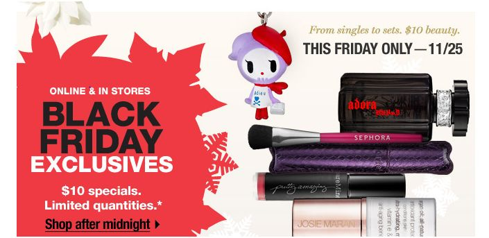 sephora black friday $10 specials stila bare minerals