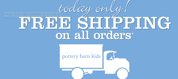pottery barn kids free shipping