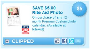 rite aid calendar photo $5 off printable coupon