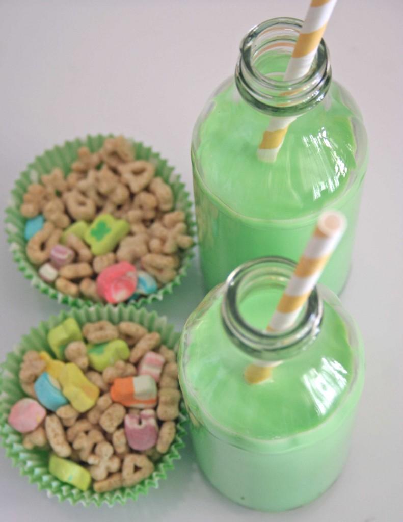st patricks day breakfast green milk