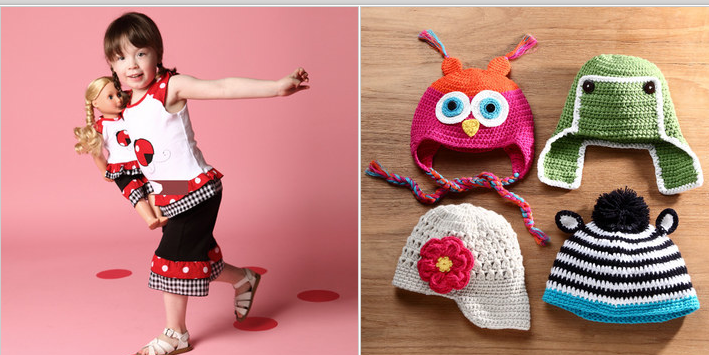 cute knit hats matching girl and doll clothes 10% off zulily coupon