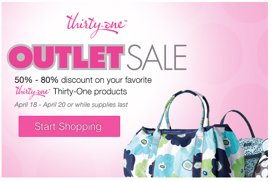 Thirty Outlet sale giveaway tote