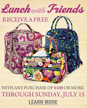 vera bradley free lunch bag backpack