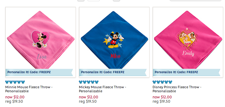 disney store sale free shipping no min
