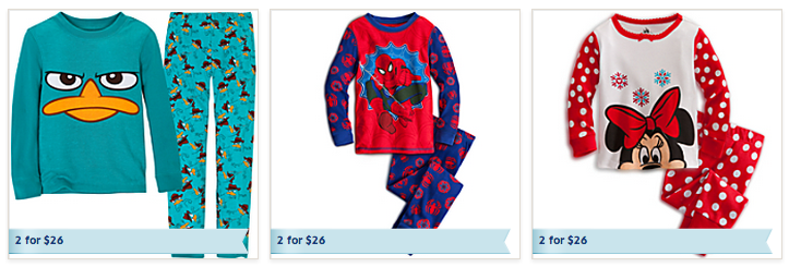disney pj sale free shipping