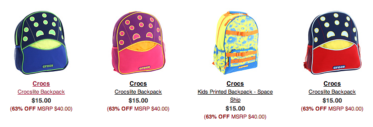 croc backpack sale