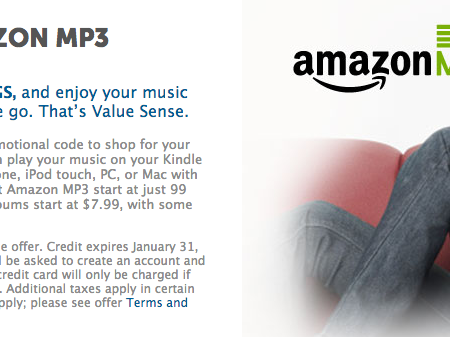$5 free mp3 music credit coupon amazon