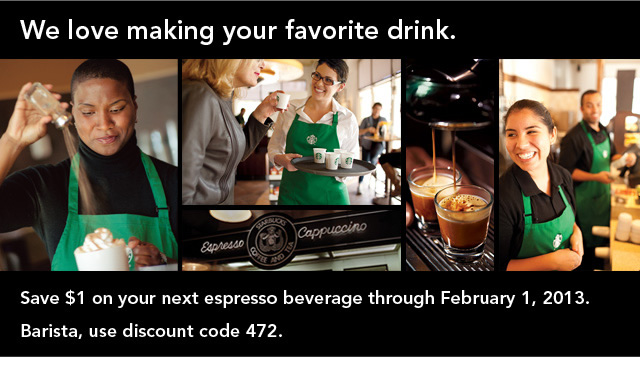 $1 off starbucks expresso printable coupon