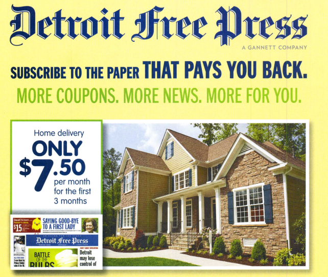 detroit free press discount subscription