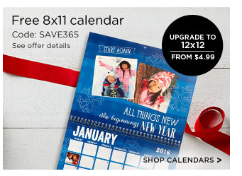 Here is an amazing deal! You can get a personalized calendar for FREE from Shutterfly! These make awesome grandparent gifts!