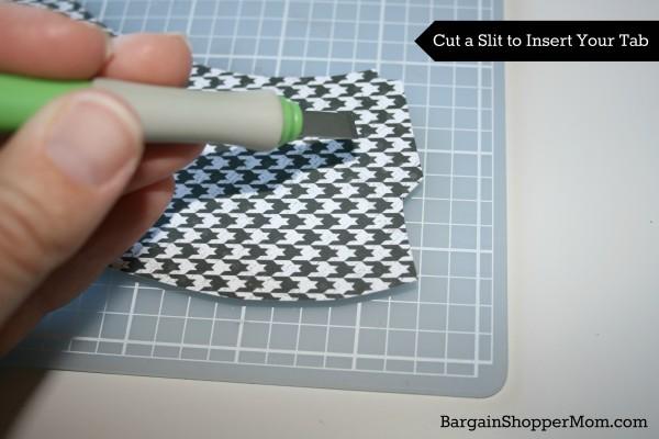 Spa Sock Cupcake DIY Slit