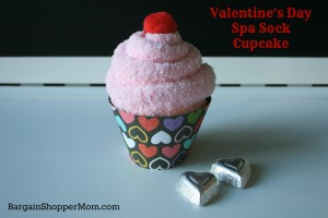 Valentine's Day Spa Sock Cupcake