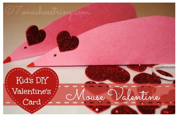 diy mouse valentine