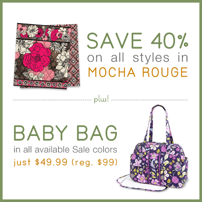 vera bradley mocah rouge diaper bag sale