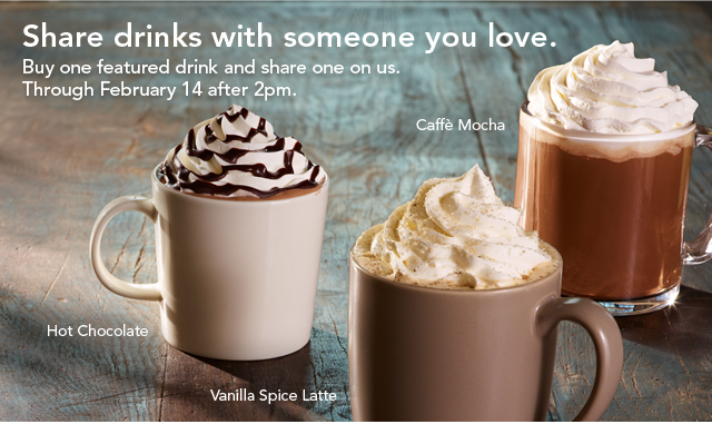 starbucks buy one get one free
