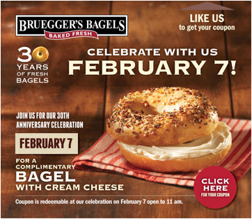 free bagel coupon
