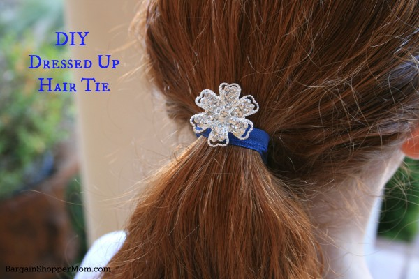 DIY Hair Tie with a Bead