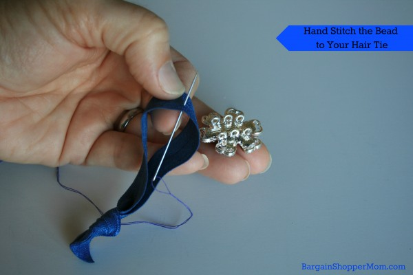 Stitch Beads to a Hair Tie