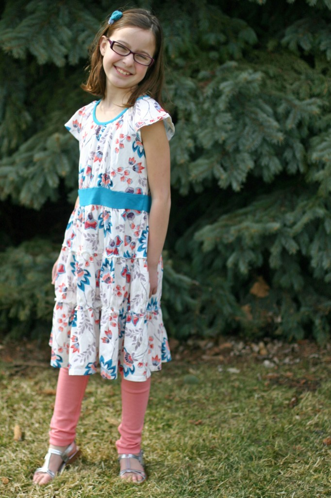 tea twirl  dress leggings