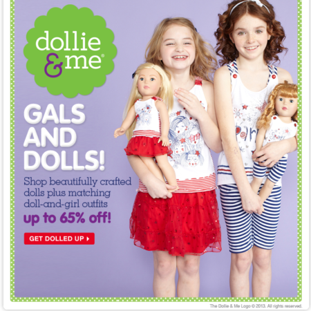 dollie and me matching girl doll outfits