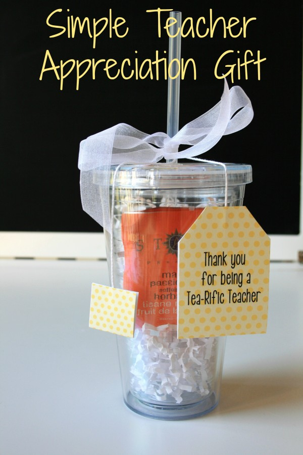 Here is a cute and easy Teacher Appreciation gift with a free printable. Thank you for being a Tea-rific teacher.