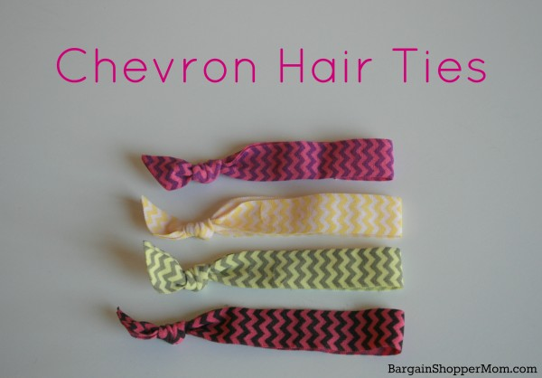 BargainShopperMom Chevron Hair Ties Tutorial