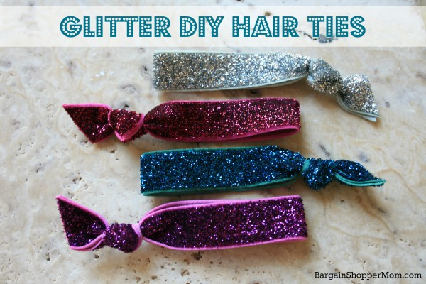 BargainShopperMom Glitter DIY Hair Ties Tutorial